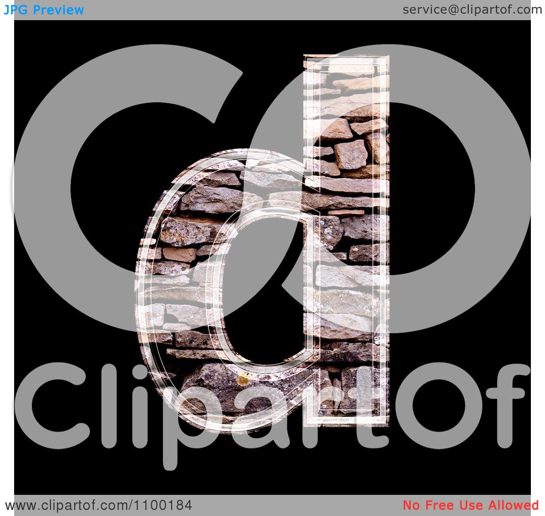 Clipart 3d Lowercase Letter d Made Of Stone Wall Texture ...