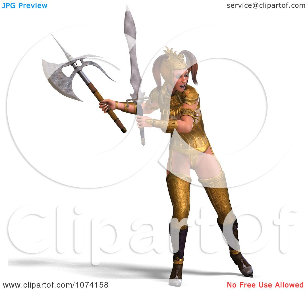 Medieval Battle Axe Drawing Clipart 3d Medieval Fantasy