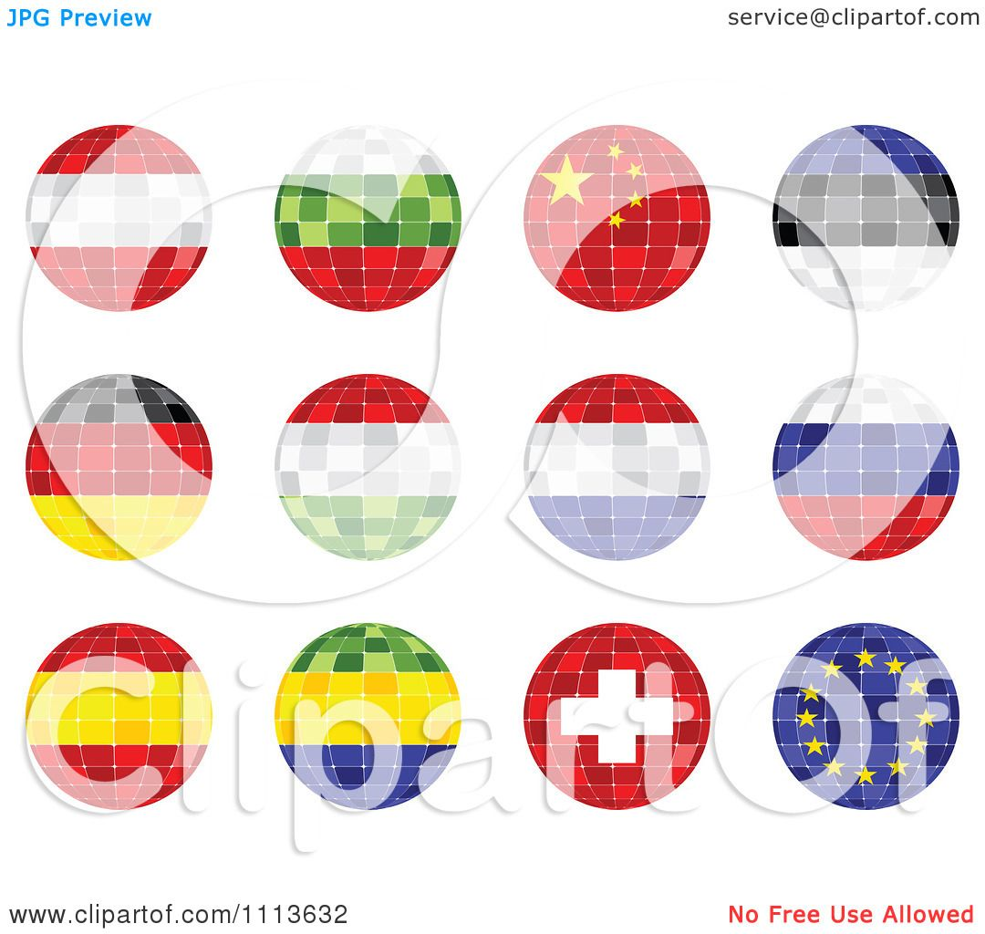 Clipart 3d Mosaic National Flag Orbs - Royalty Free Vector ...