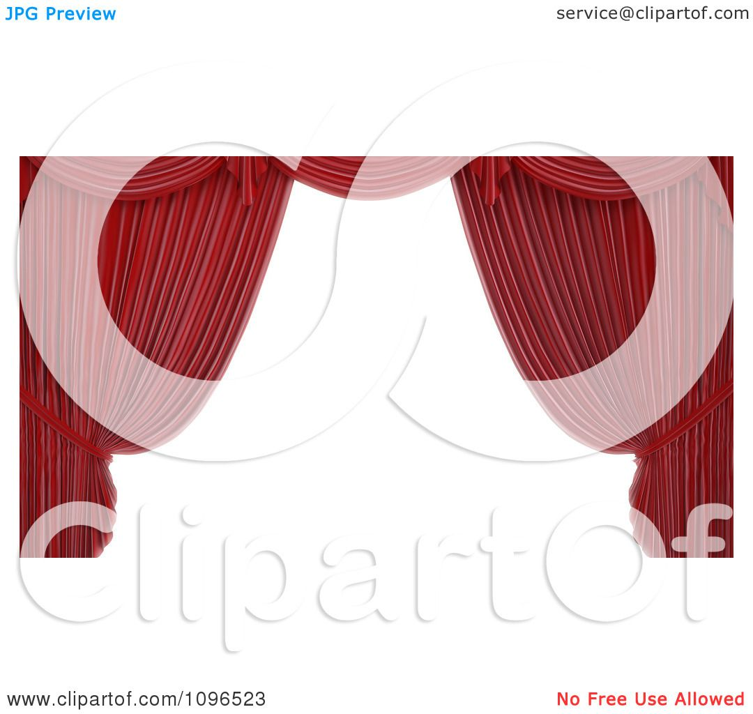 Free coloring pages of stage curtains - Clipart 3d Read Theater Stage Curtain Frame Royalty Free Cgi Illustration By Mopic