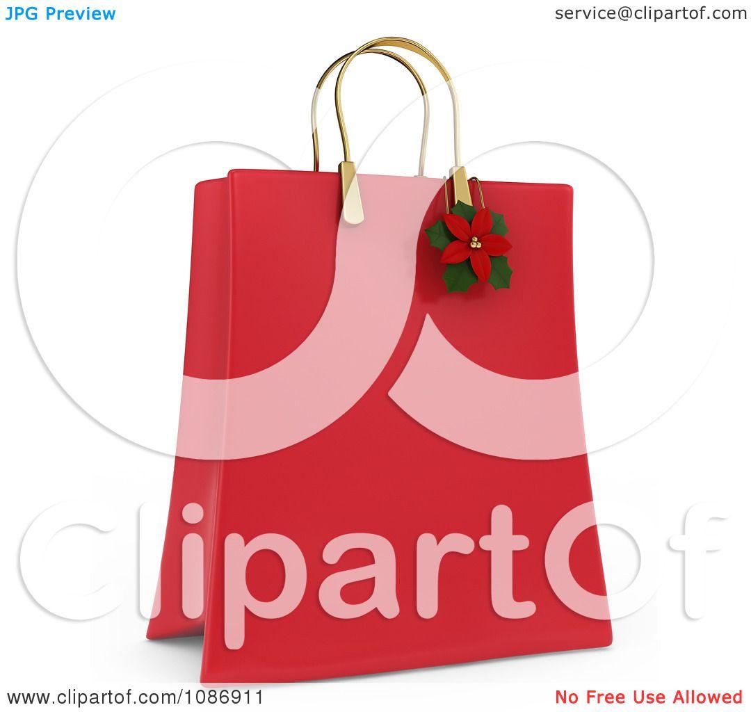 Christmas gift bag clip art imgkid the image