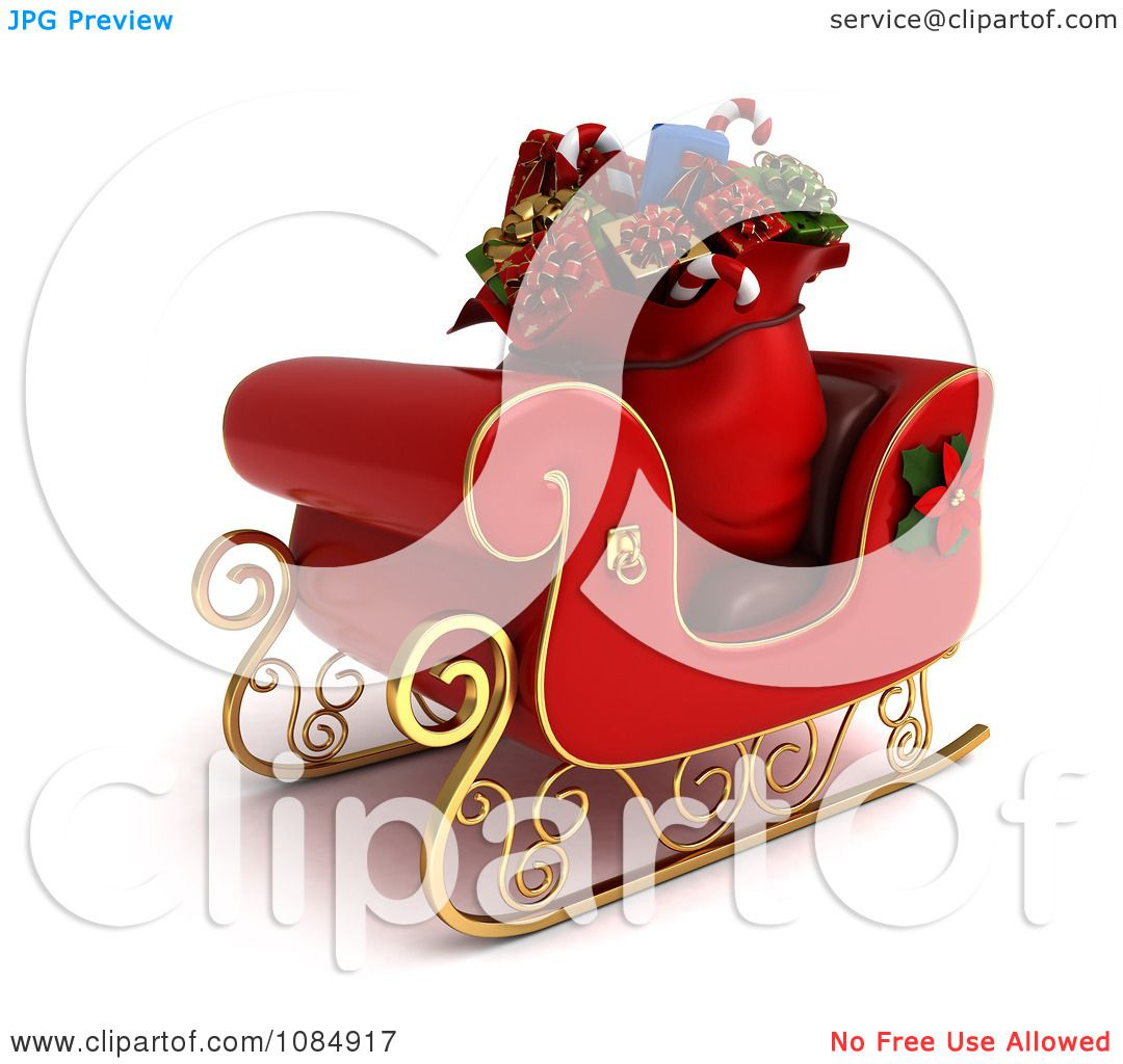 Clipart 3d Sack Of Christmas Gifts