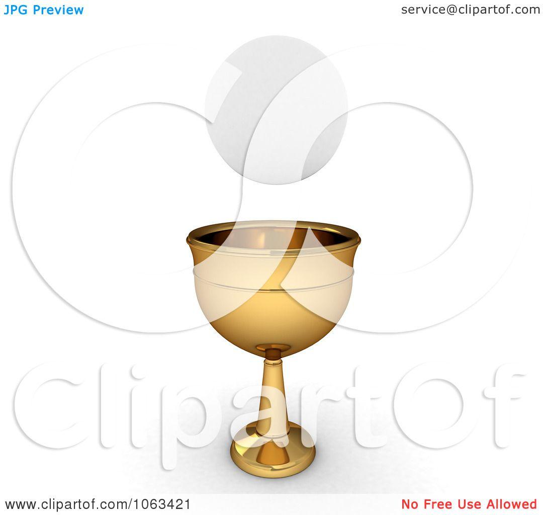 Clipart 3d Sacramental Bread And Chalice Royalty Free Cgi Illustration By Bnp Design Studio