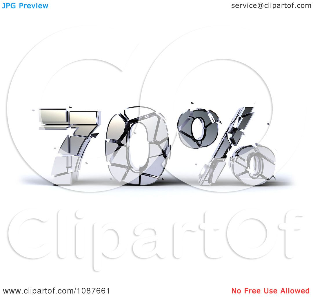Clipart 3d Shattering Silver 70 Percent Discount - Royalty Free ...
