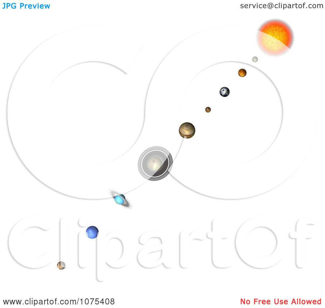 Clipart 3d Solar System 7 - Royalty Free CGI Illustration by ...