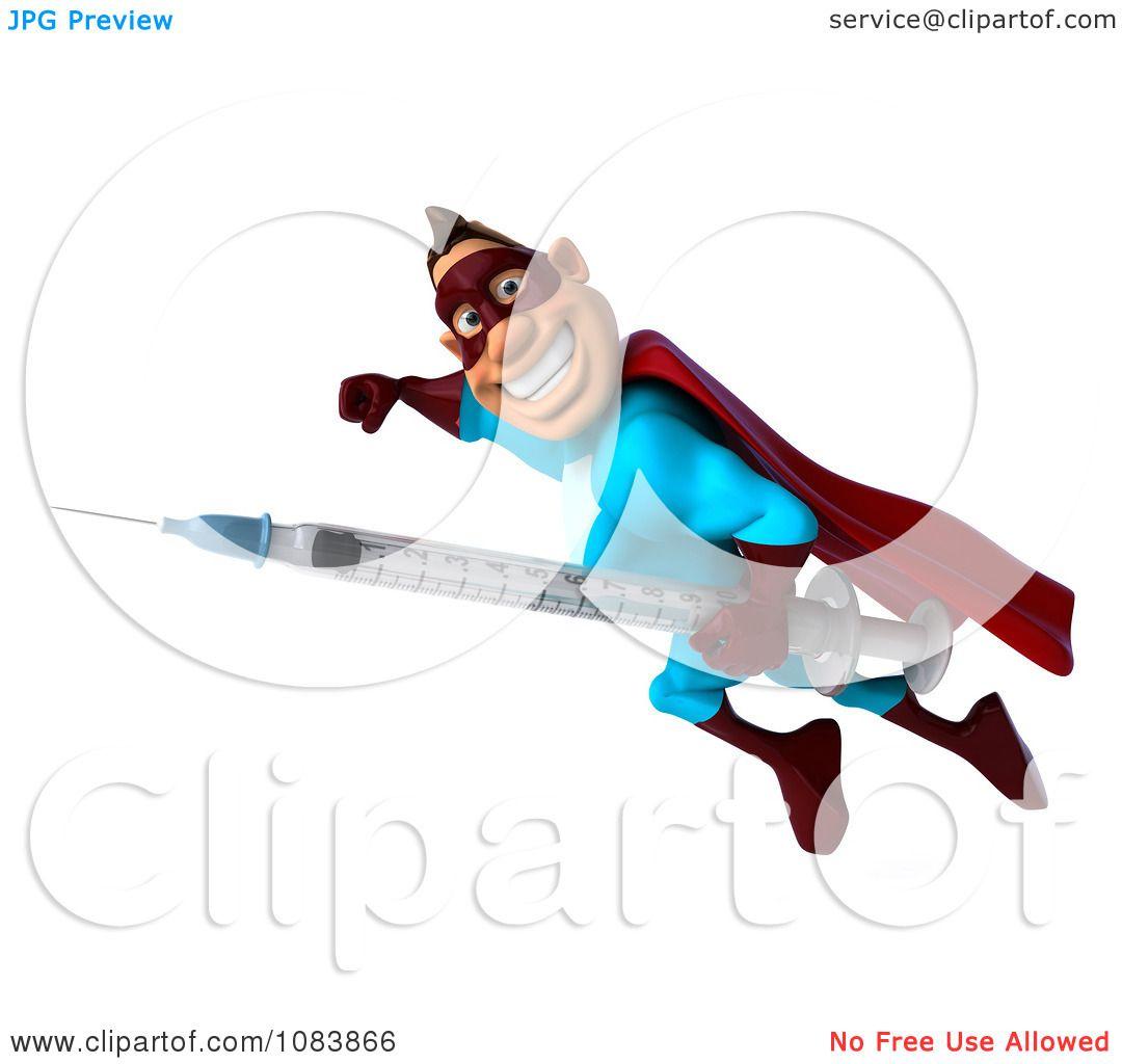 Clip Art Vaccine Clipart 3d super dude in