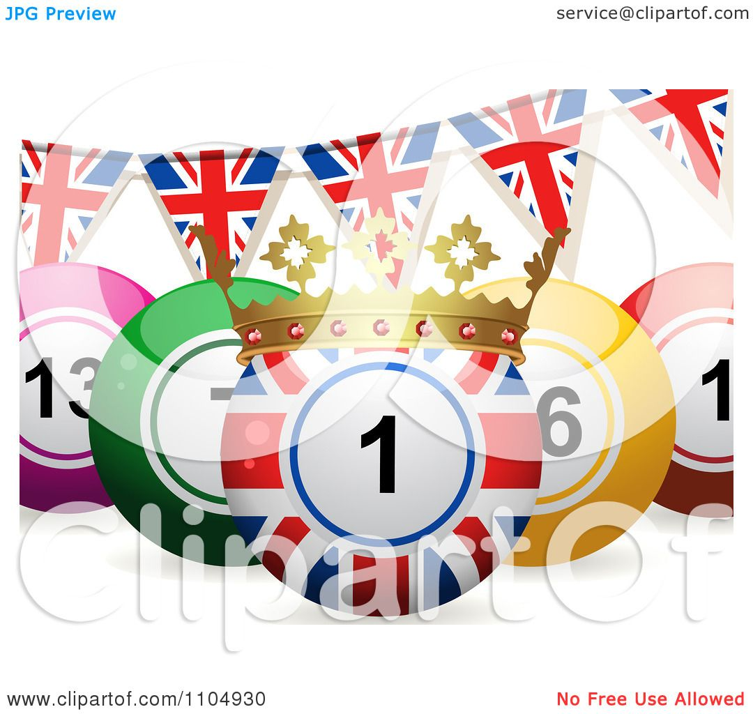 Clipart 3d Union Jack Bingo Ball With A Crown And Union ...