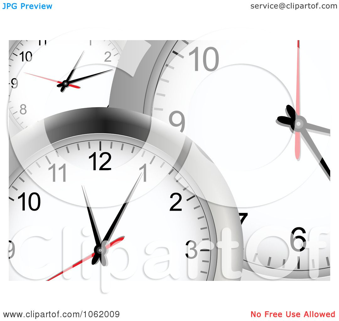 Clipart 3d Wall Clock Background - Royalty Free Vector ...
