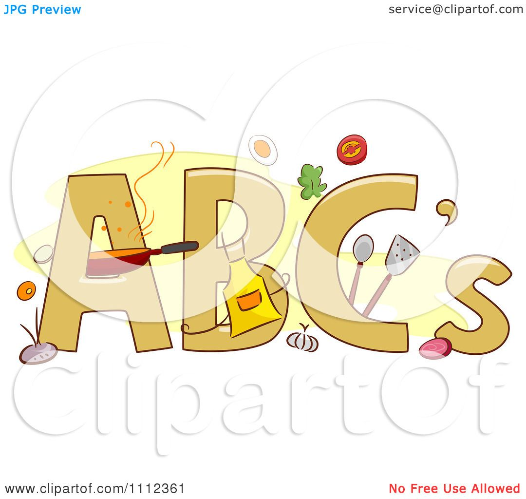 Clipart ABC Letters With Food And Cooking Items - Royalty ...
