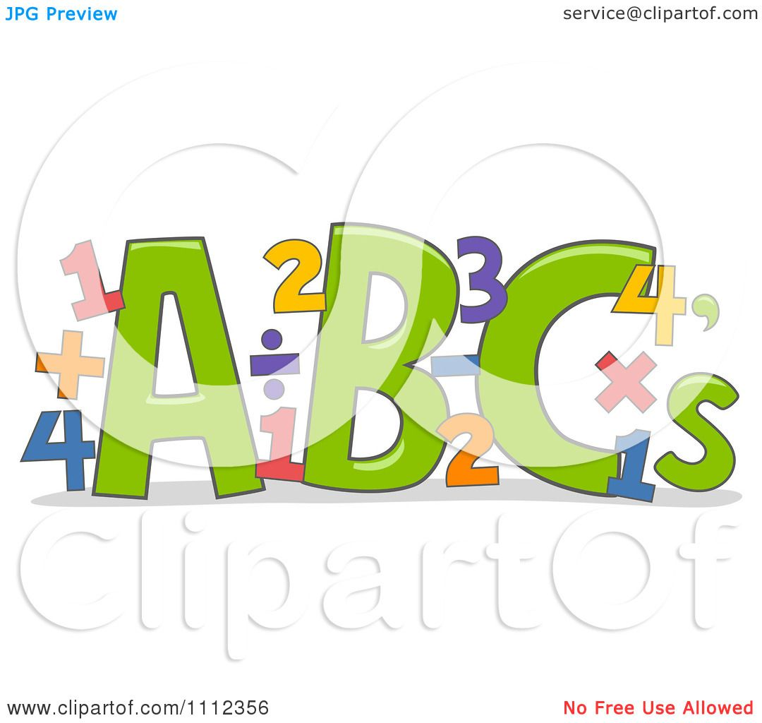 Clipart Abc Letters With Math Equations Royalty Free