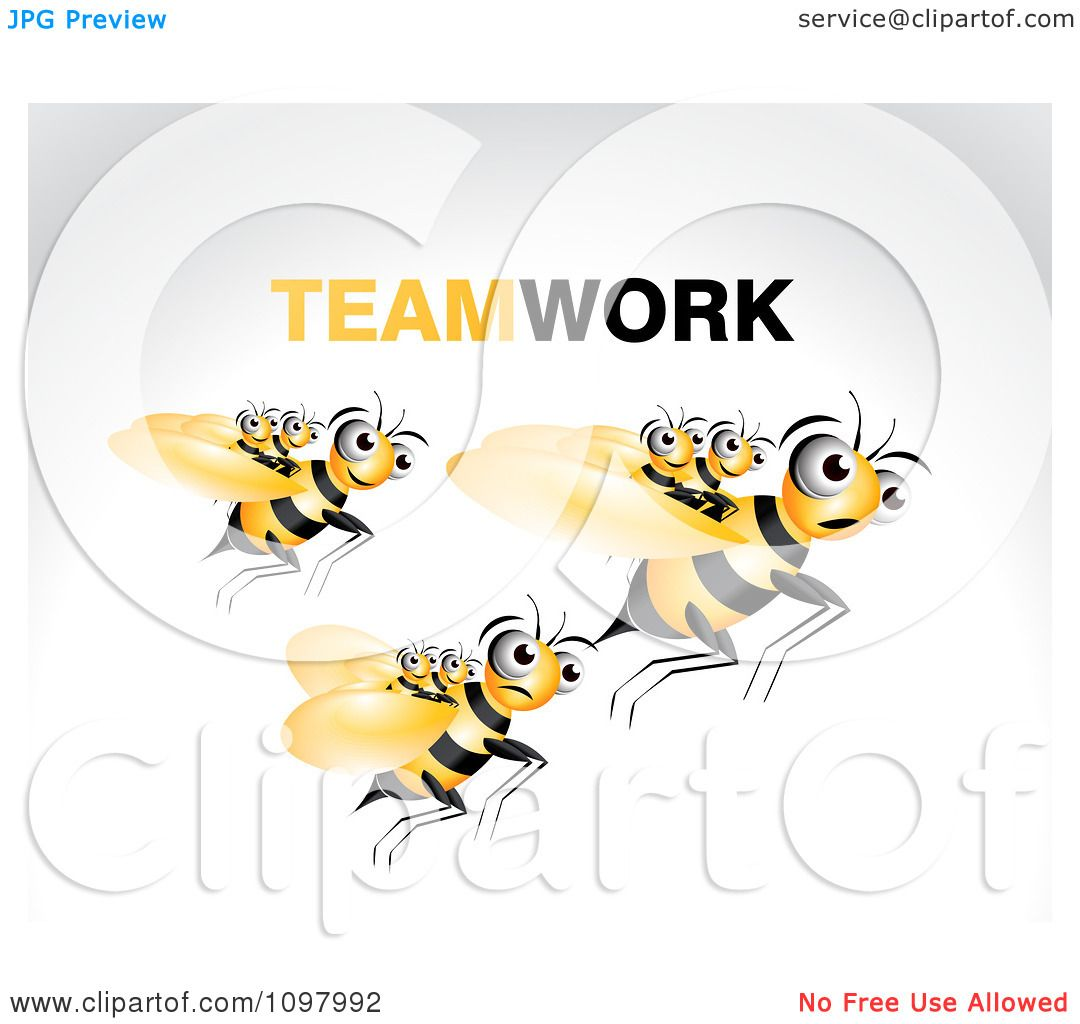 Clipart Adult Bees Carrying Young Ones On A Fly Along - Royalty ...