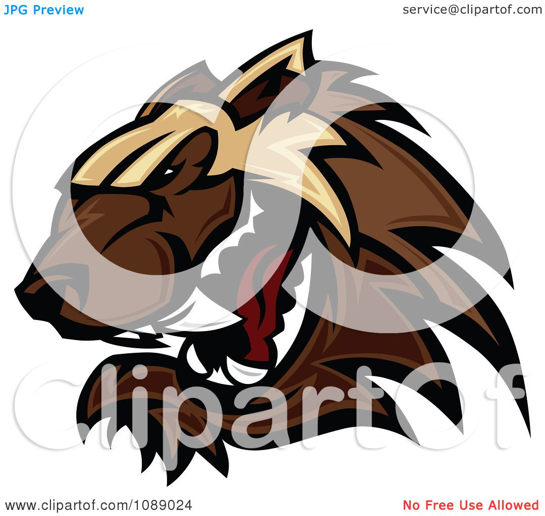 Clipart Aggressive Wolverine Mascot - Royalty Free Vector ...