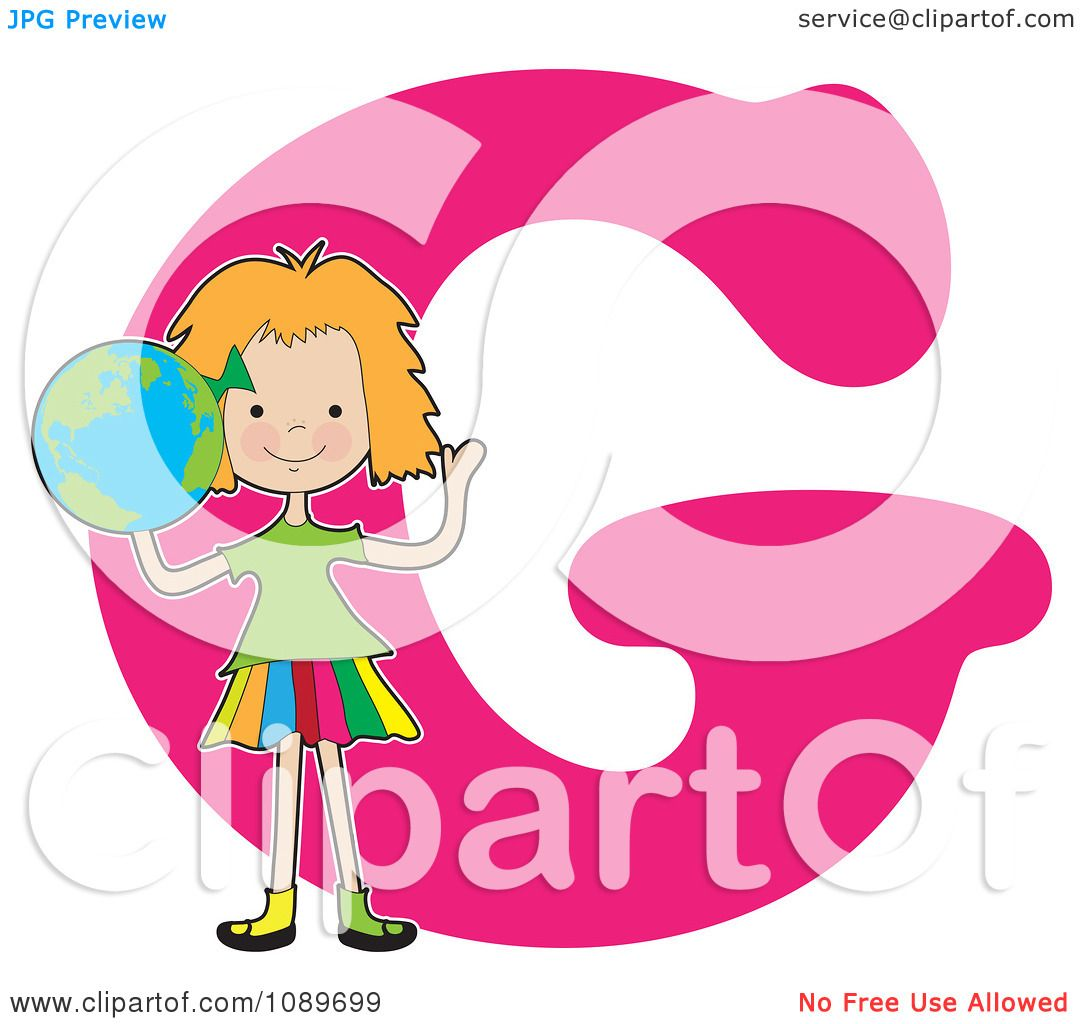 Girl Picture Clipart Clipart Alphabet Girl Holding