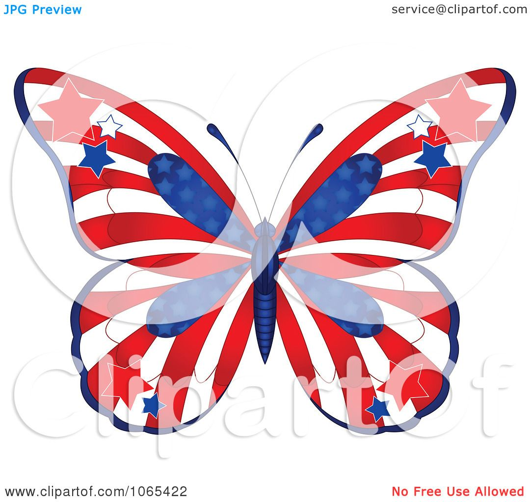 Clipart American Butterfly - Royalty Free Vector Illustration by ...