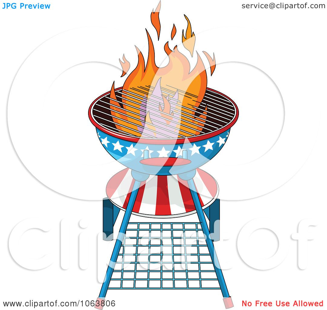 Clipart American Fourth Of July Bbq