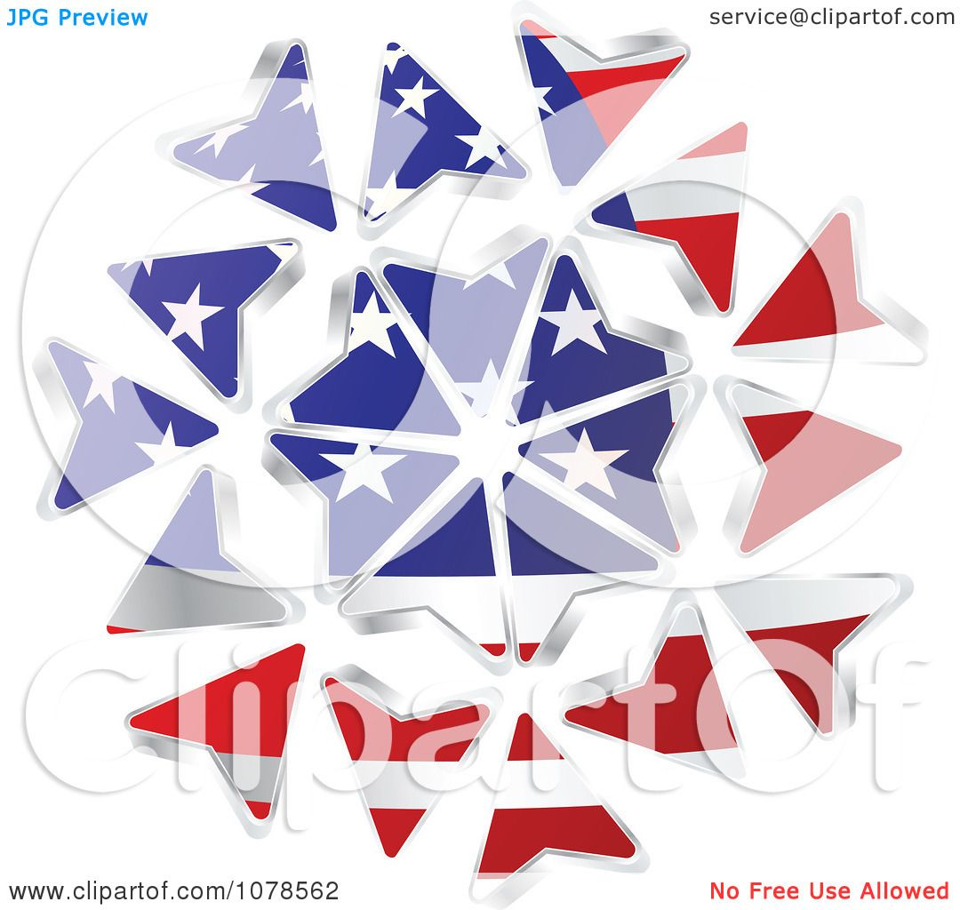 Clipart American Stars And Stripes Arrows - Royalty Free ...