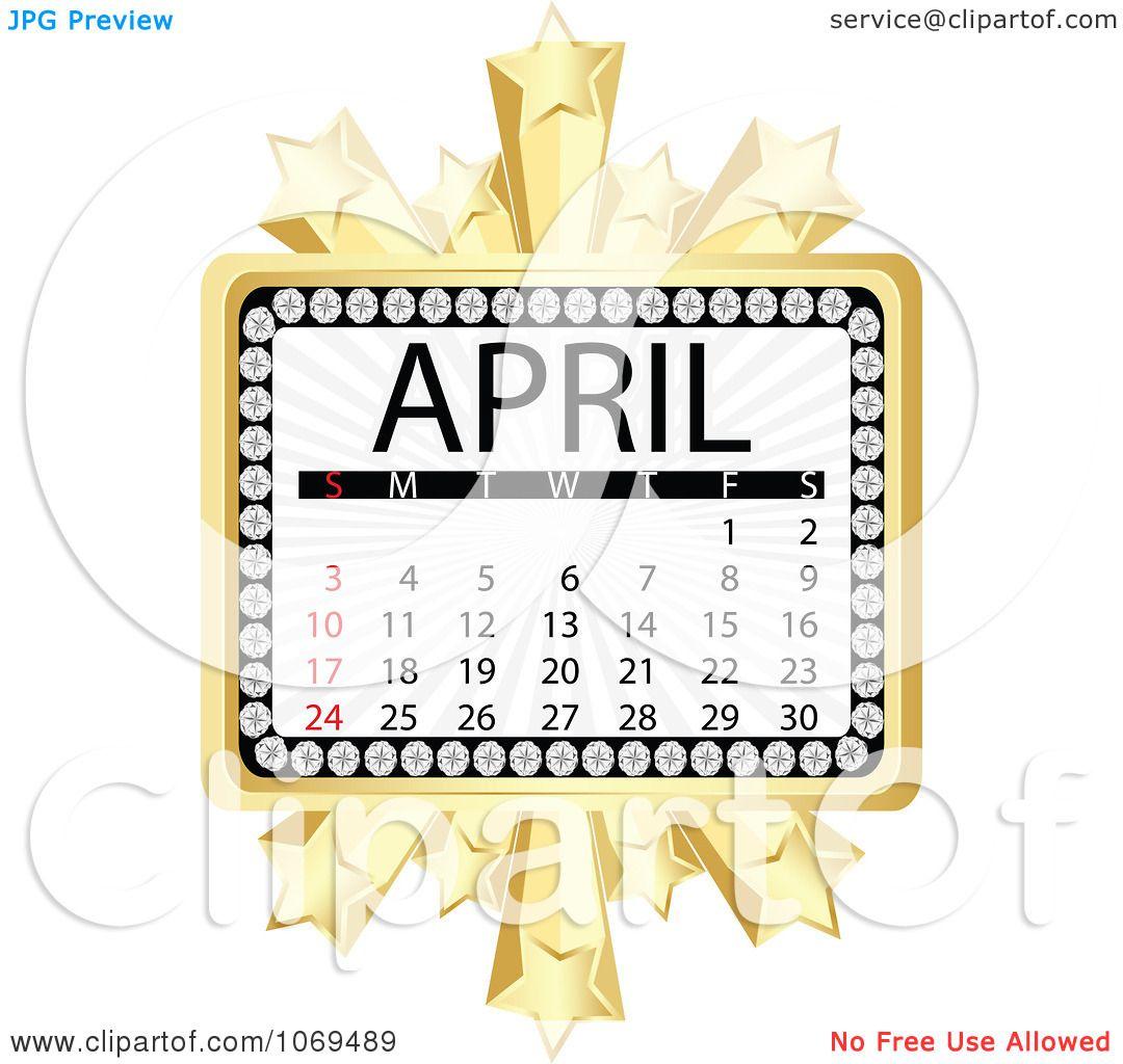 April Calendar Illustration : Clipart april marquee calendar royalty free vector