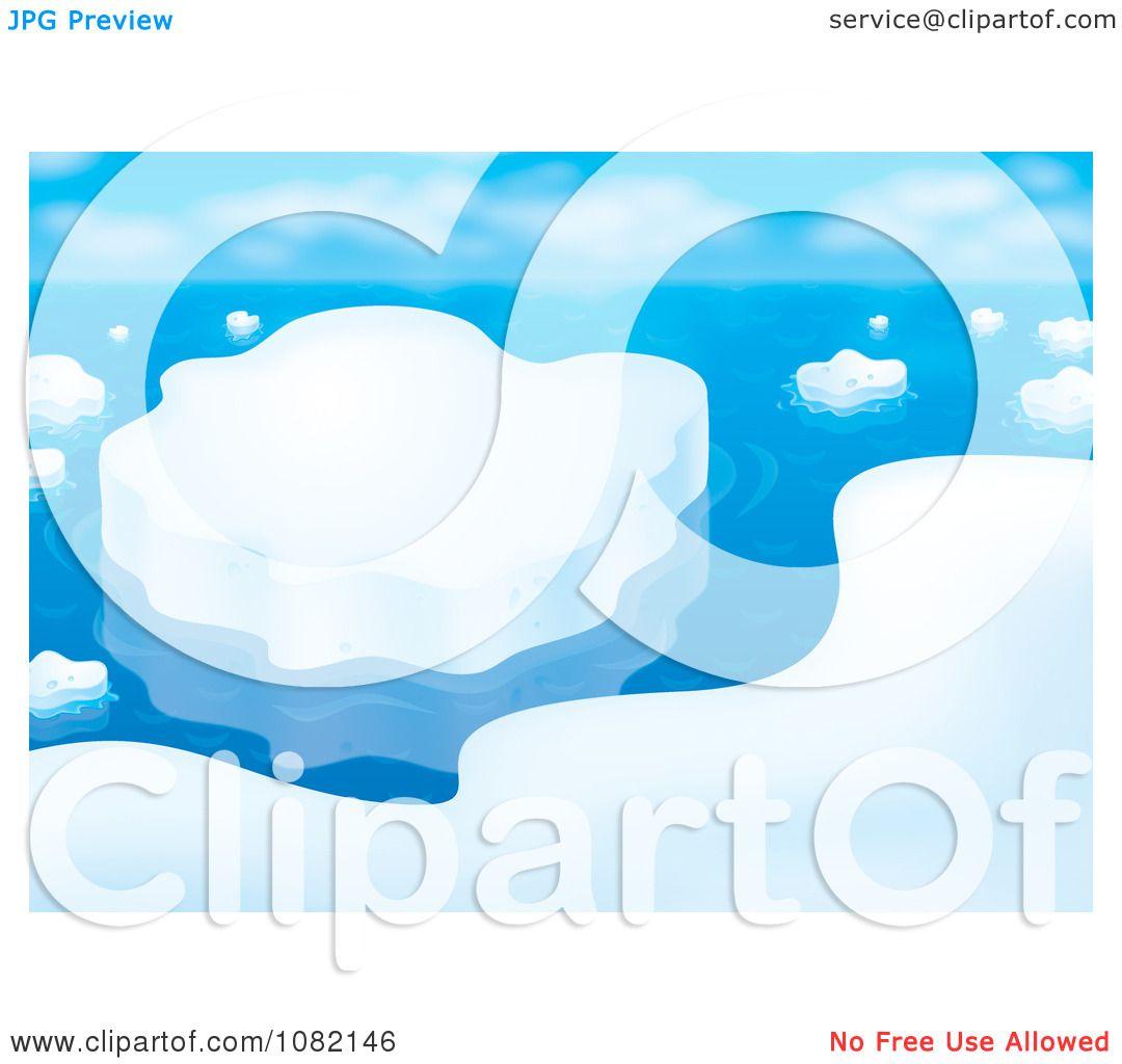 Clipart Arctic Coastal Ice Scene - Royalty Free Illustration by ...