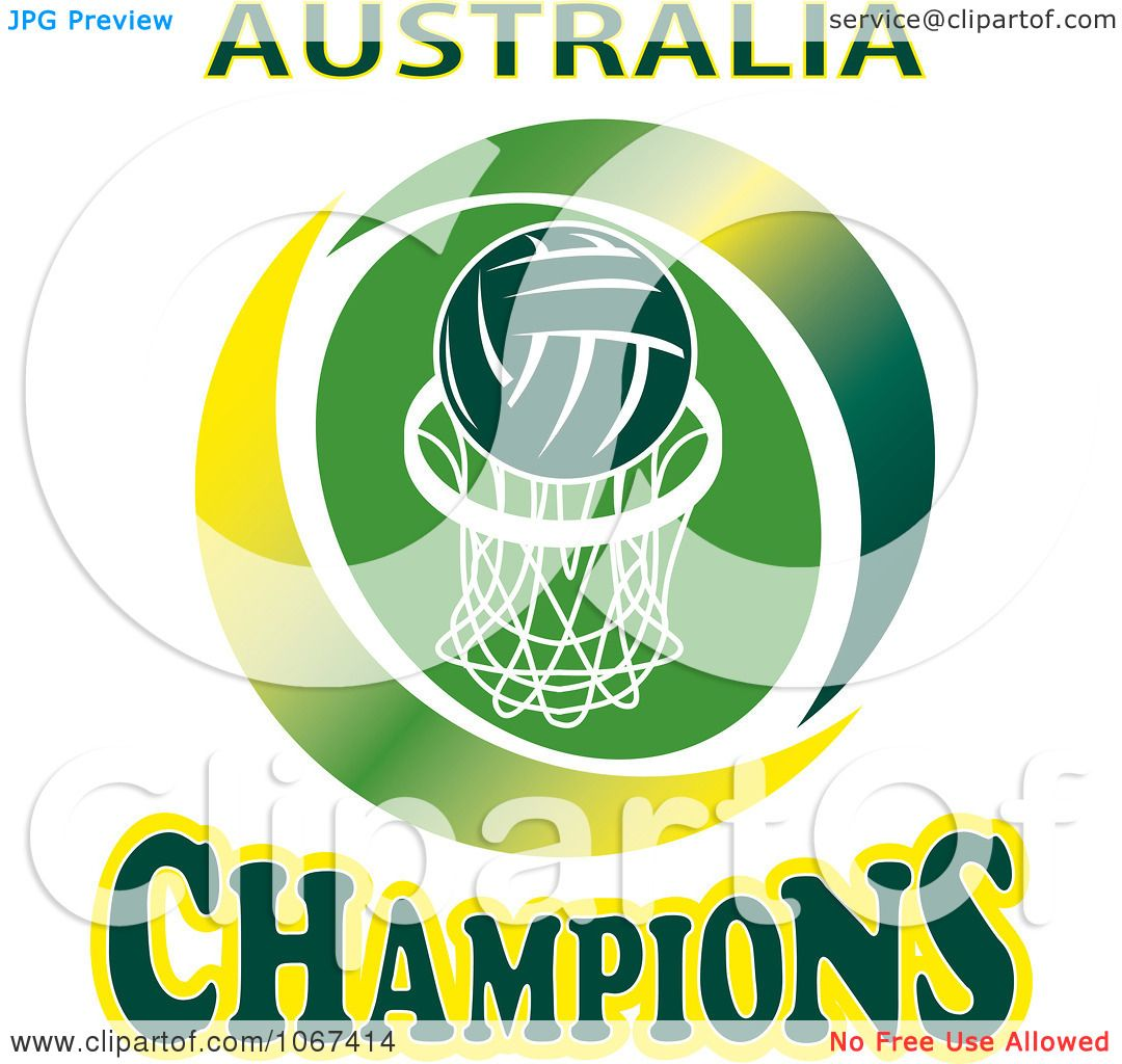 Clipart Australia Netball Champions Sign - Royalty Free Vector ...