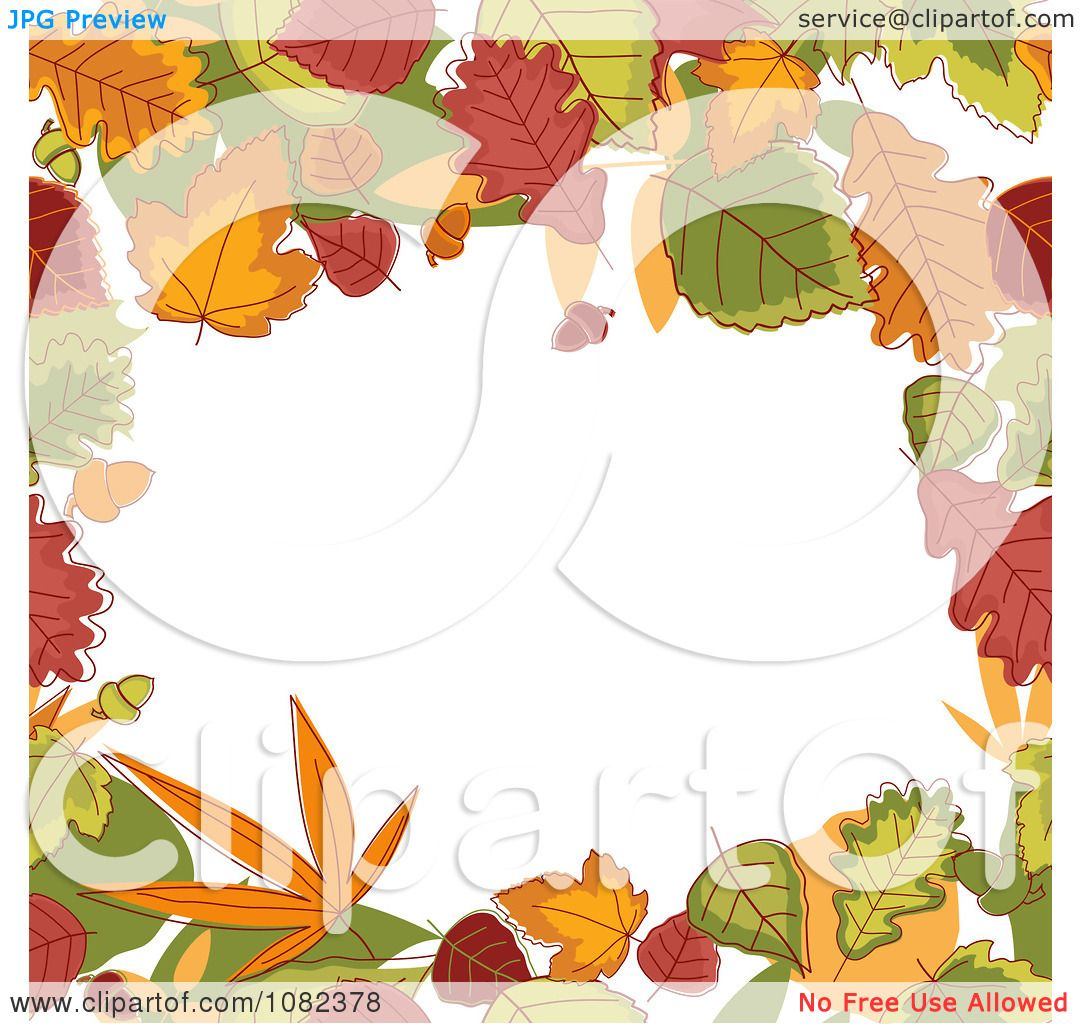 Fall Borders Clip Art Clipart autumn border of