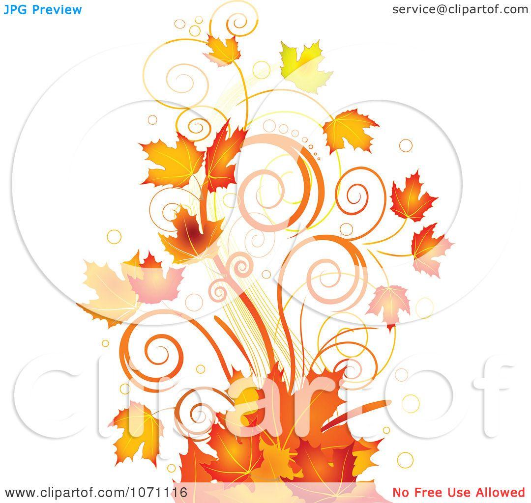 17 Clipart Autumn Swir...