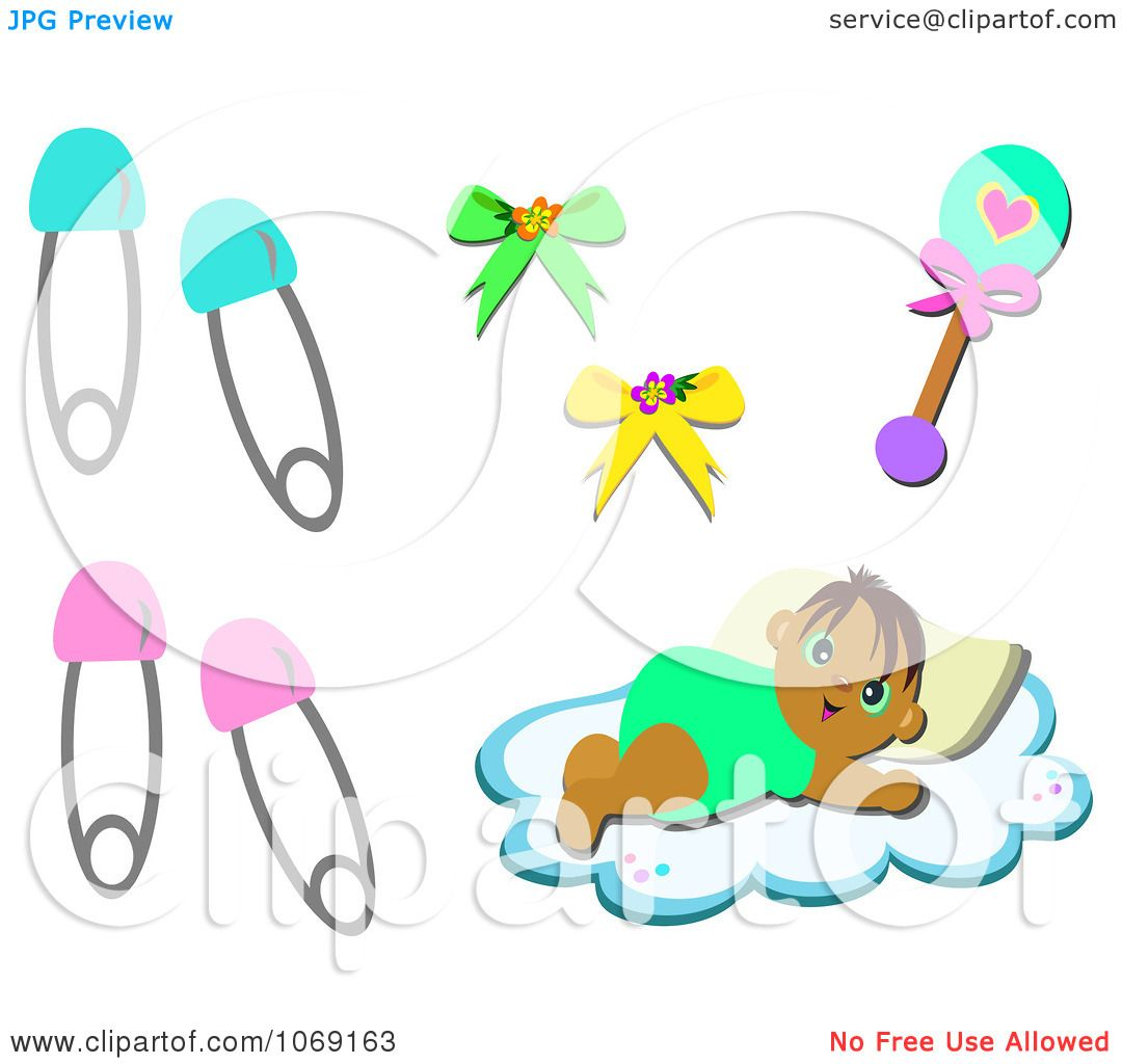 Clipart Baby And Items - Royalty Free Vector Illustration by ...