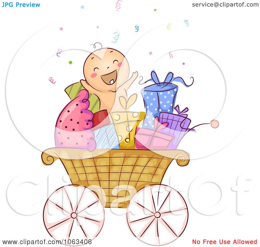Baby Gift Vector : Free baby gift clipart