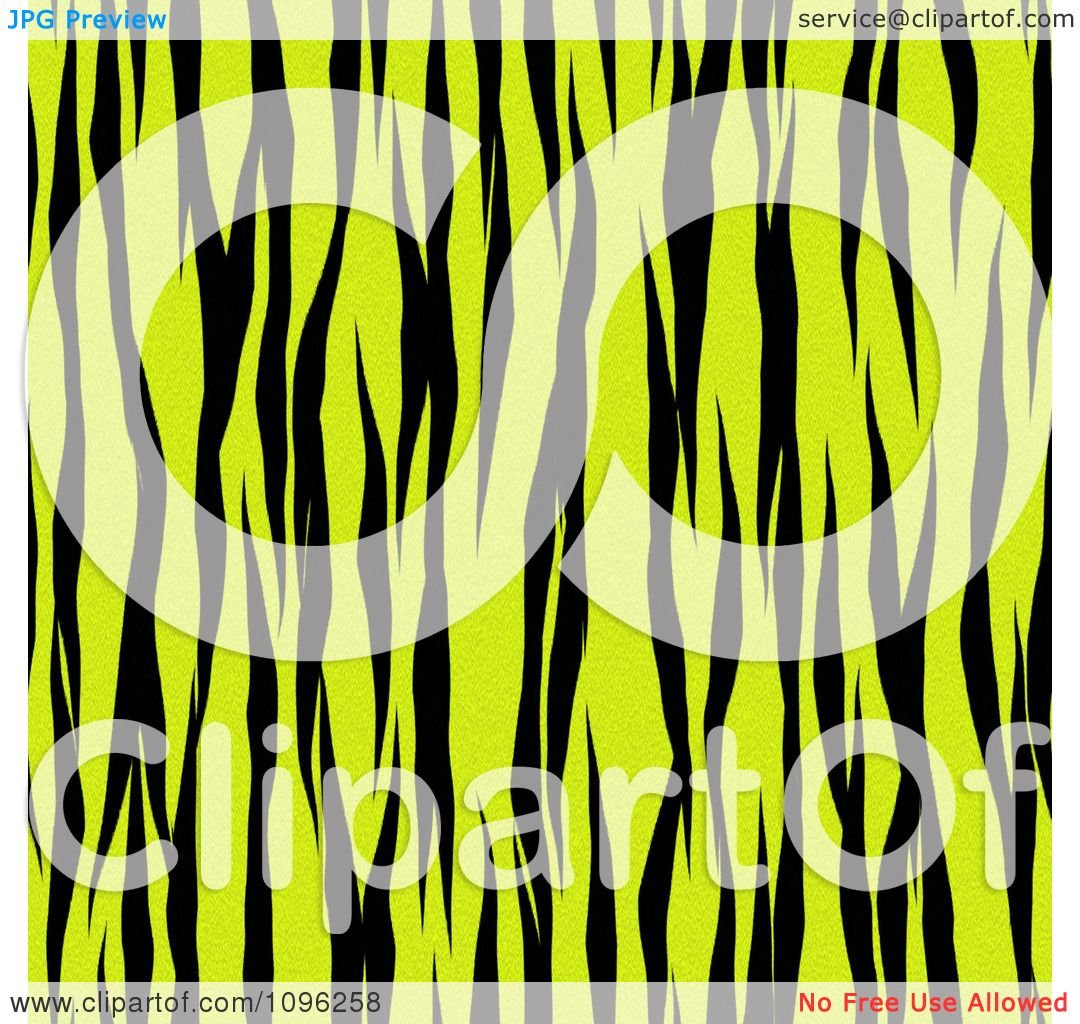 Clipart Background Pattern Of Zebra Stripes On Neon Yellow