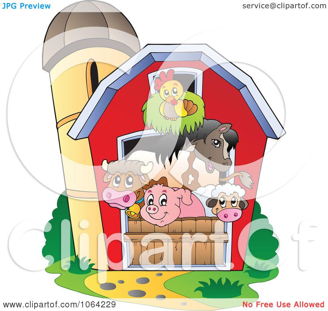 Clipart Barnyard Animals In A Barn
