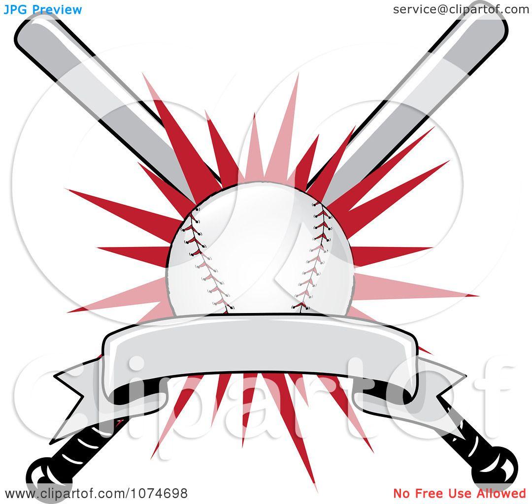 Clipart Baseball Bat And Ball Logo 1 Royalty Free Vector