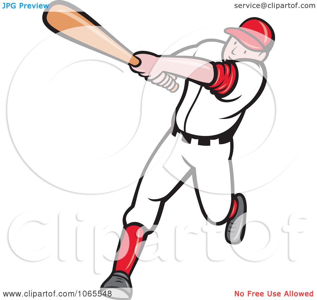 Clipart Batting Baseball Player 1