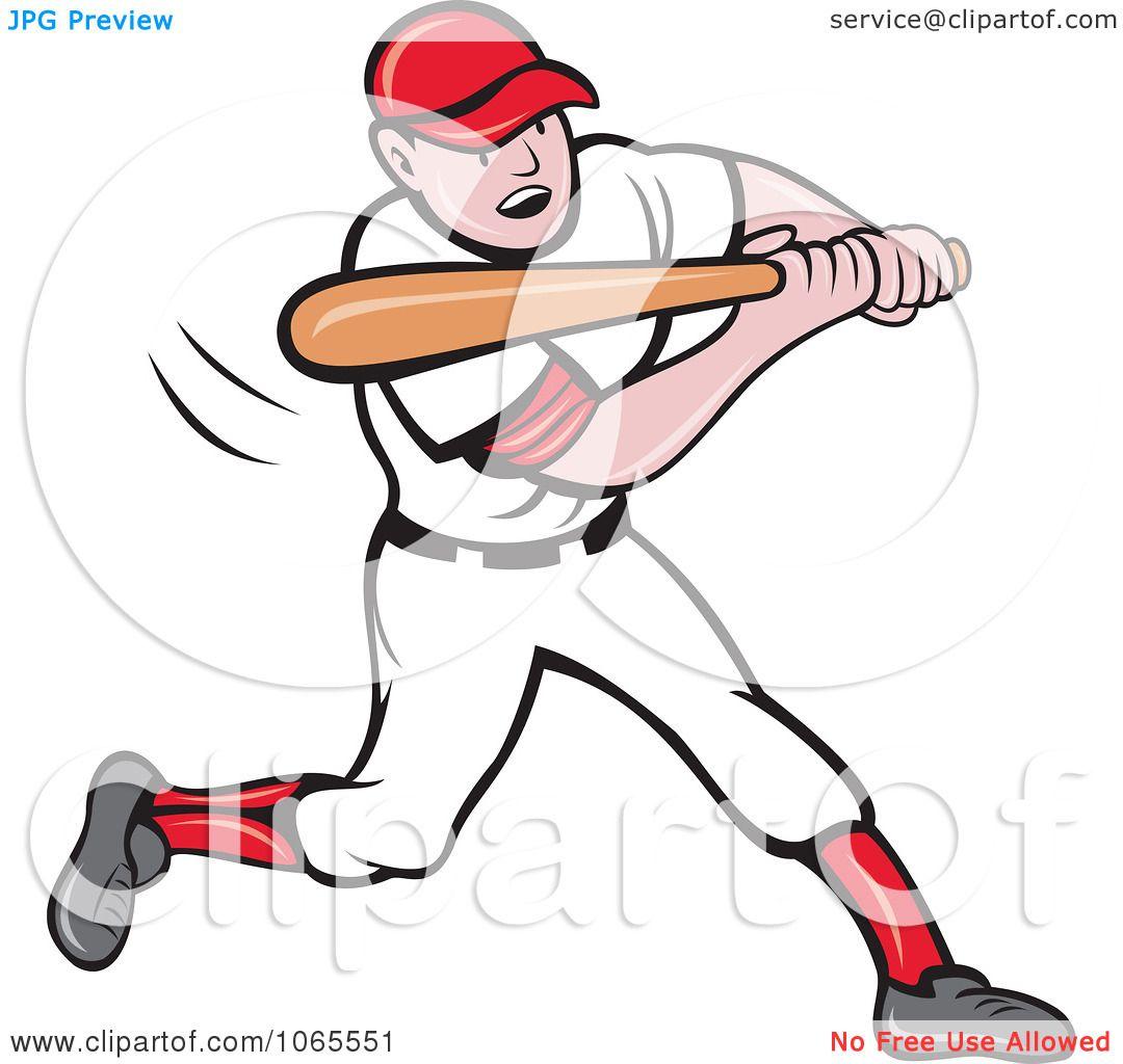 Clipart Batting Baseball Player 3 Royalty Free Vector