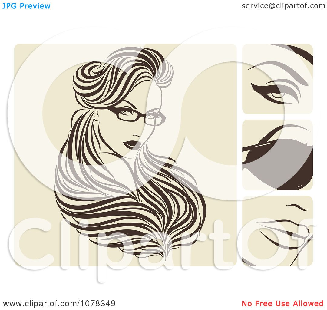 Clipart beautiful woman with hair extensions and glasses royalty clipart beautiful woman with hair extensions and glasses royalty free vector illustration by elena pmusecretfo Image collections
