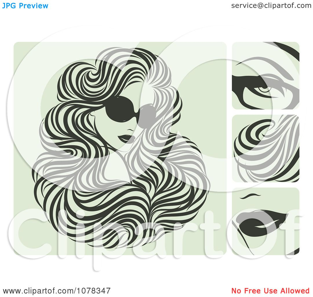 Clipart beautiful woman with hair extensions and sunglasses clipart beautiful woman with hair extensions and sunglasses royalty free vector illustration by elena pmusecretfo Image collections