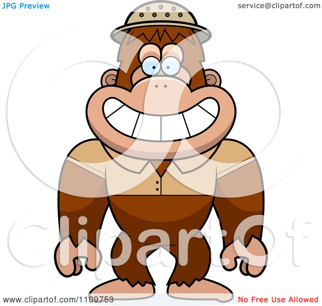 Clipart Bigfoot Sasquatch Explorer - Royalty Free Vector ...