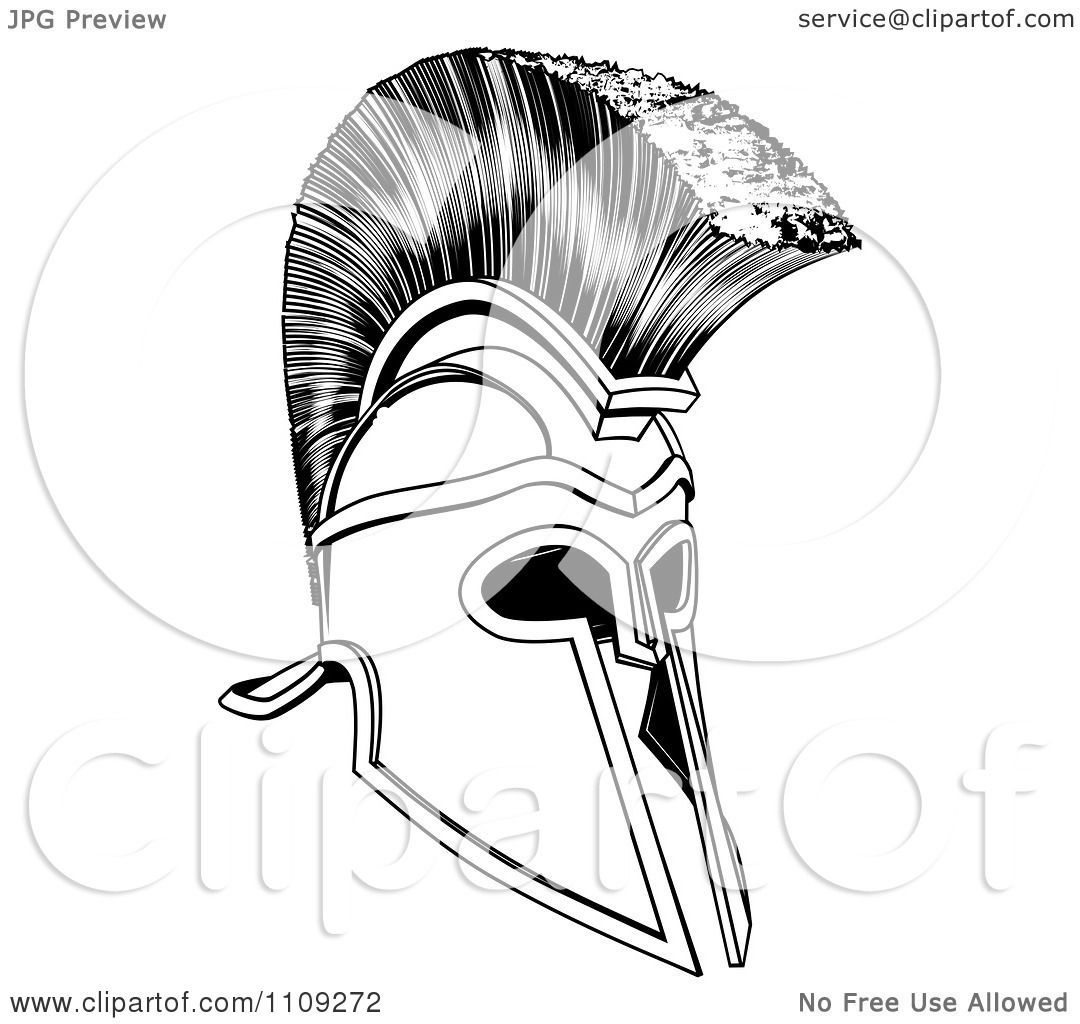 Clipart Black And White Ancient Corinthian Or Spartan