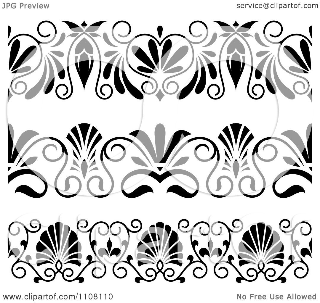 Clipart black and white art deco border design elements - Art deco design elements ...