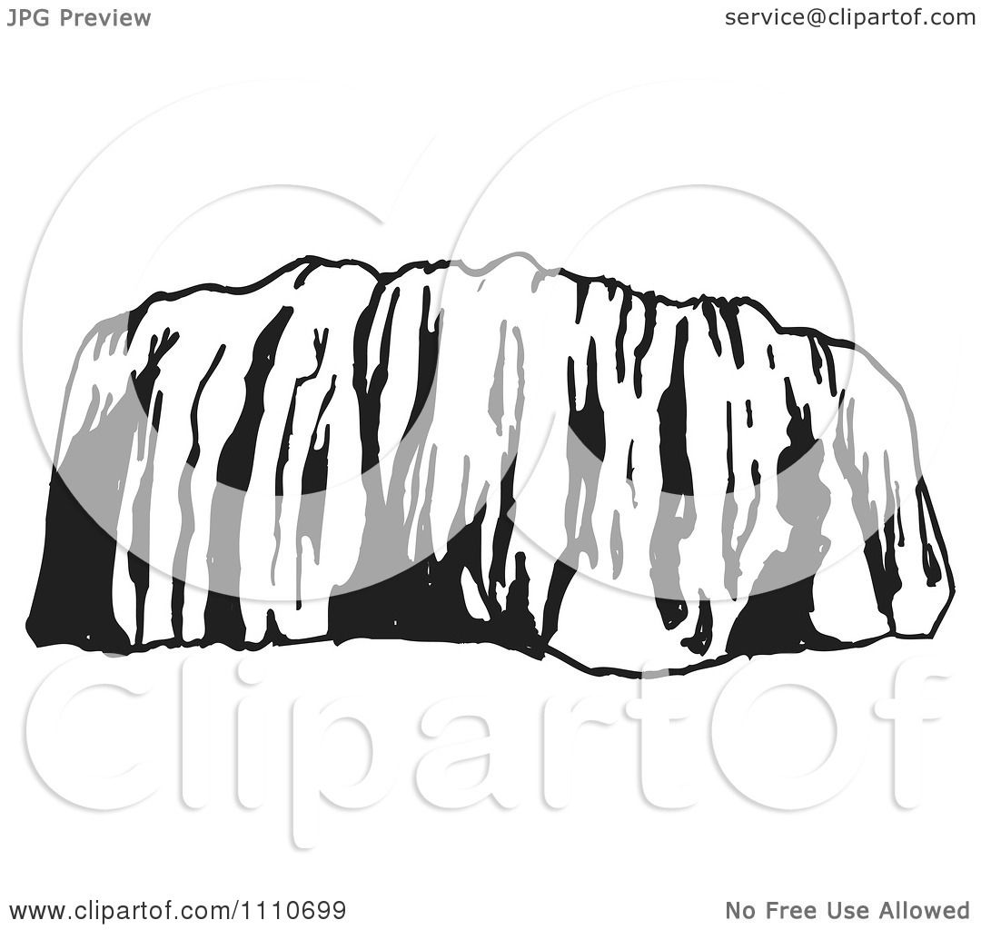 Clipart Black And White Ayers Rock Clipart Black And White