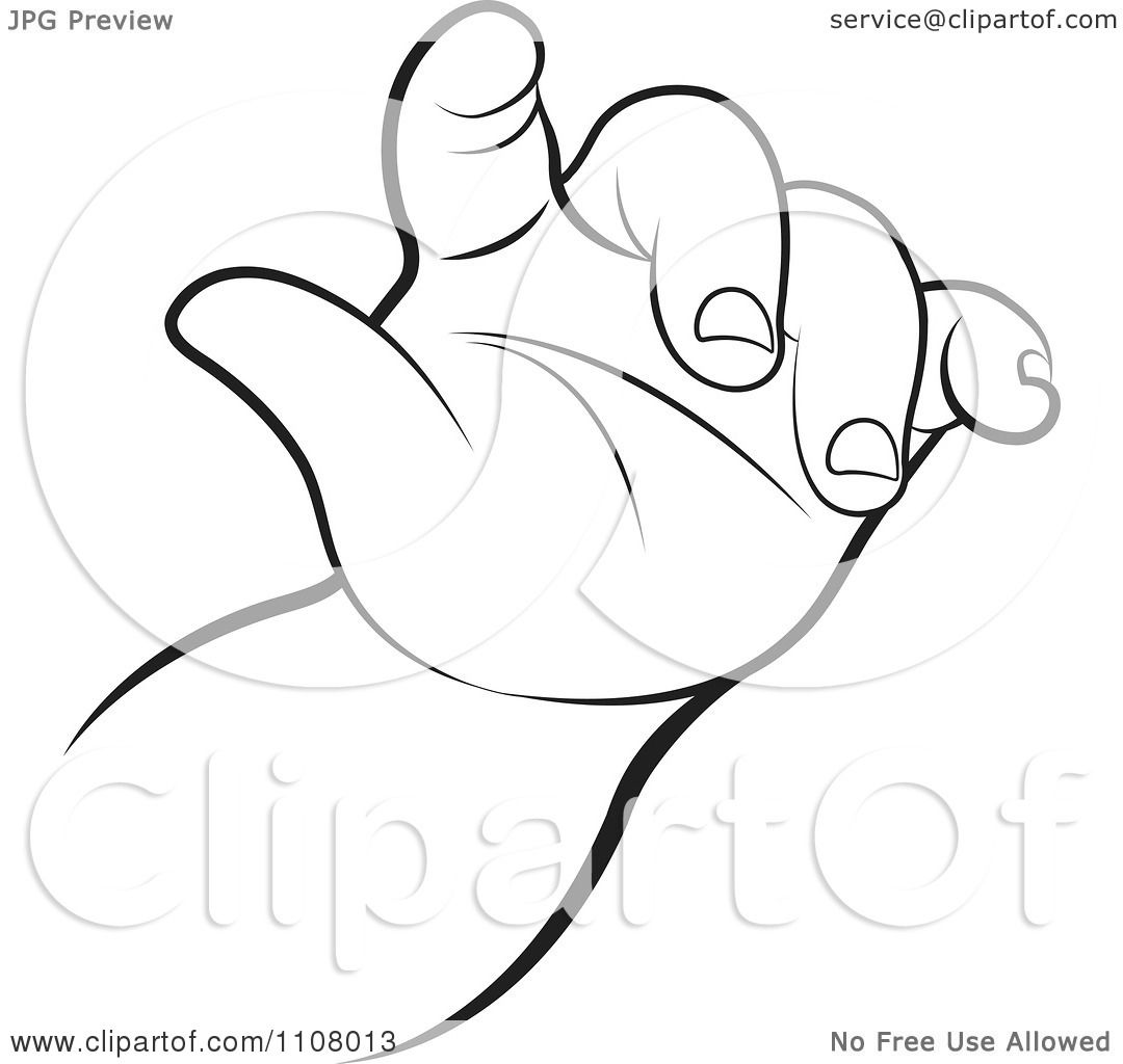 Clipart  Black  And  White  Baby  Hand  Royalty  Free  Vector  Illustration