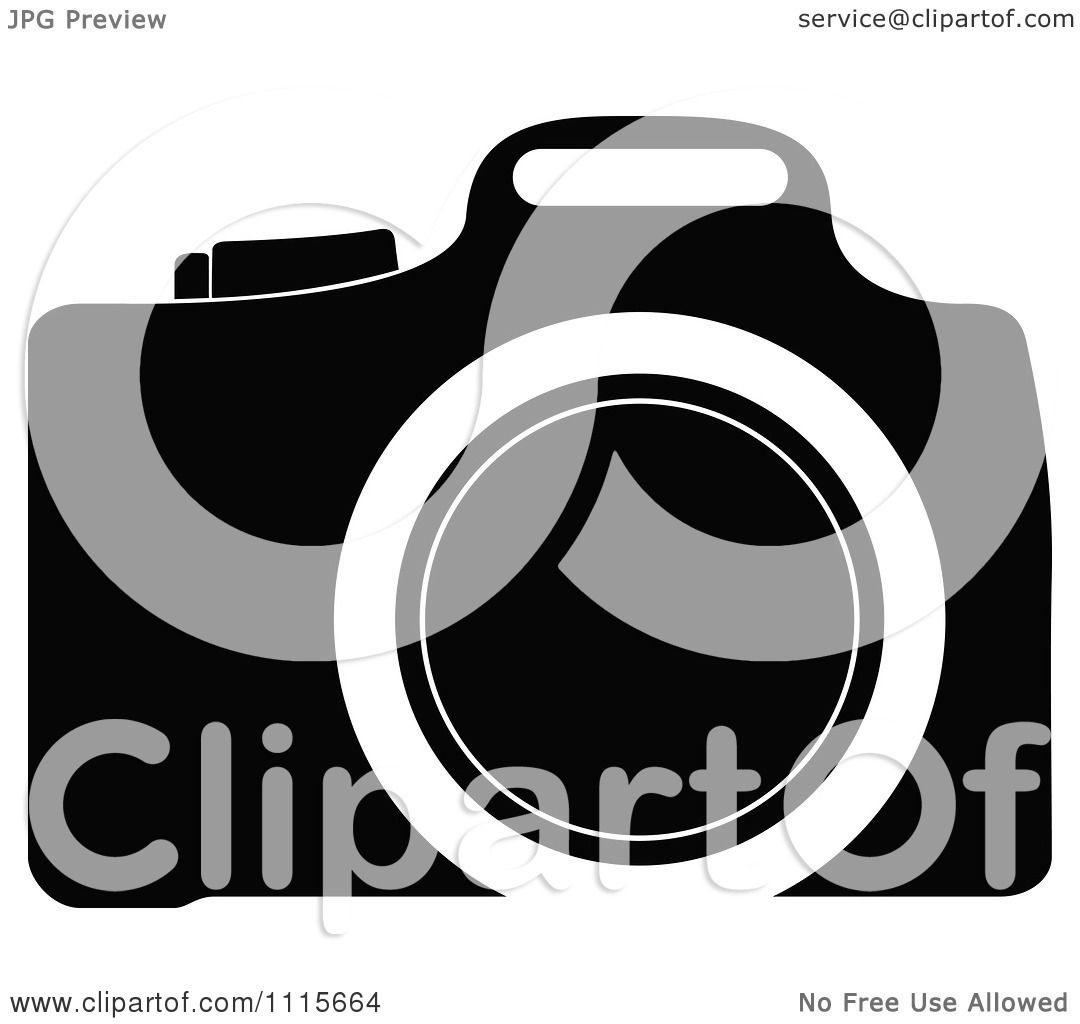 Clipart Black And White Camera - Royalty Free Vector ...