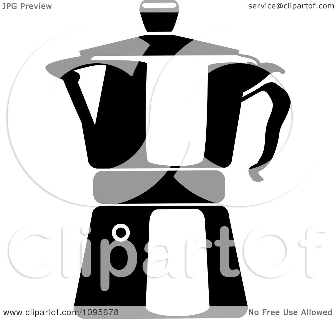 Clipart Black And White Coffee Maker 2 - Royalty Free ...