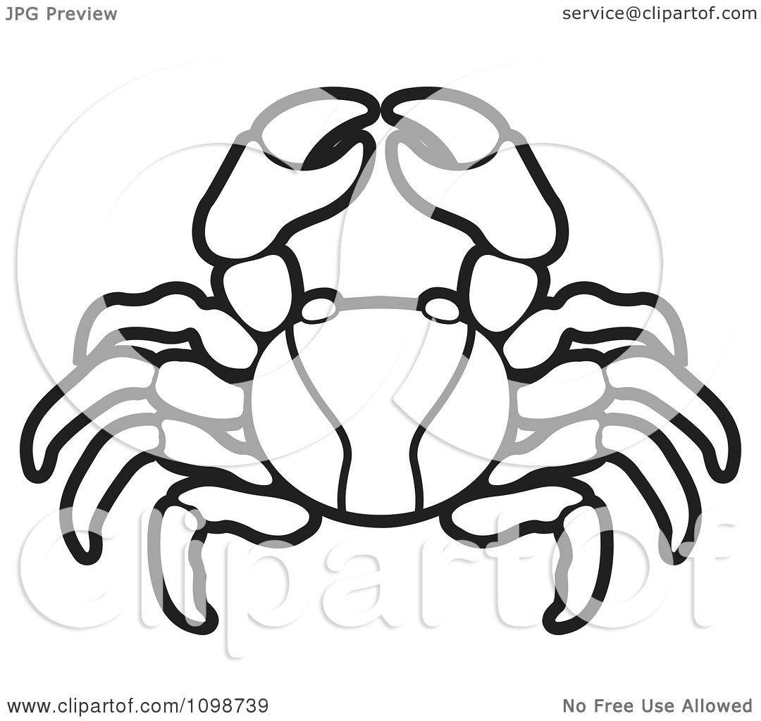 Clipart Black And White Crab Royalty Free Vector