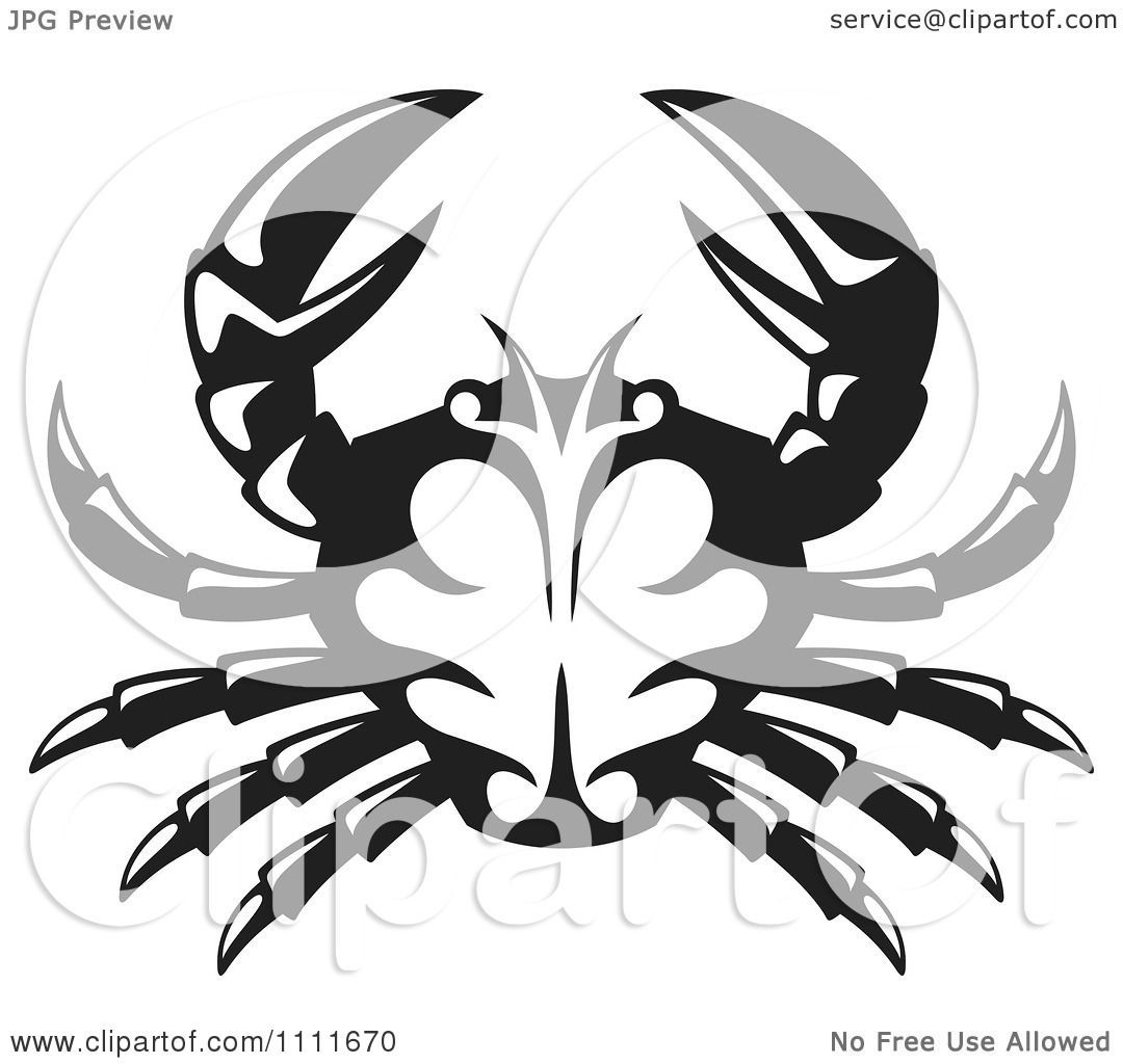 King Crab Clipart Clipart Black And White Crab
