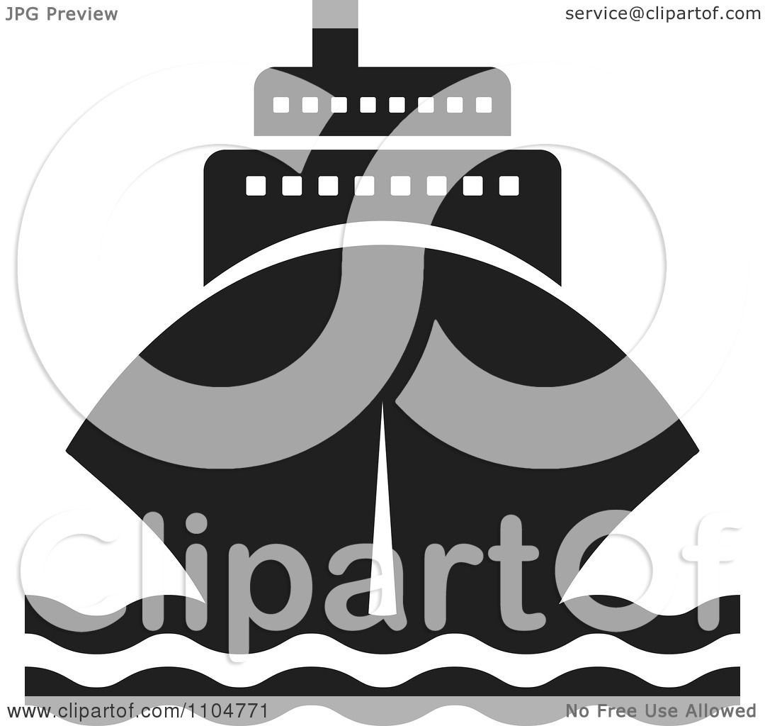 Clipart Black And White Cruise Ship