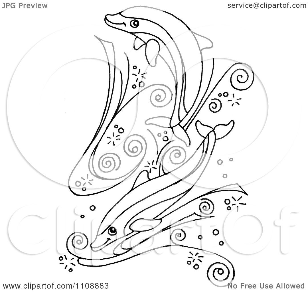 Free Dolphin Clipart Black And White Clipart Black And White