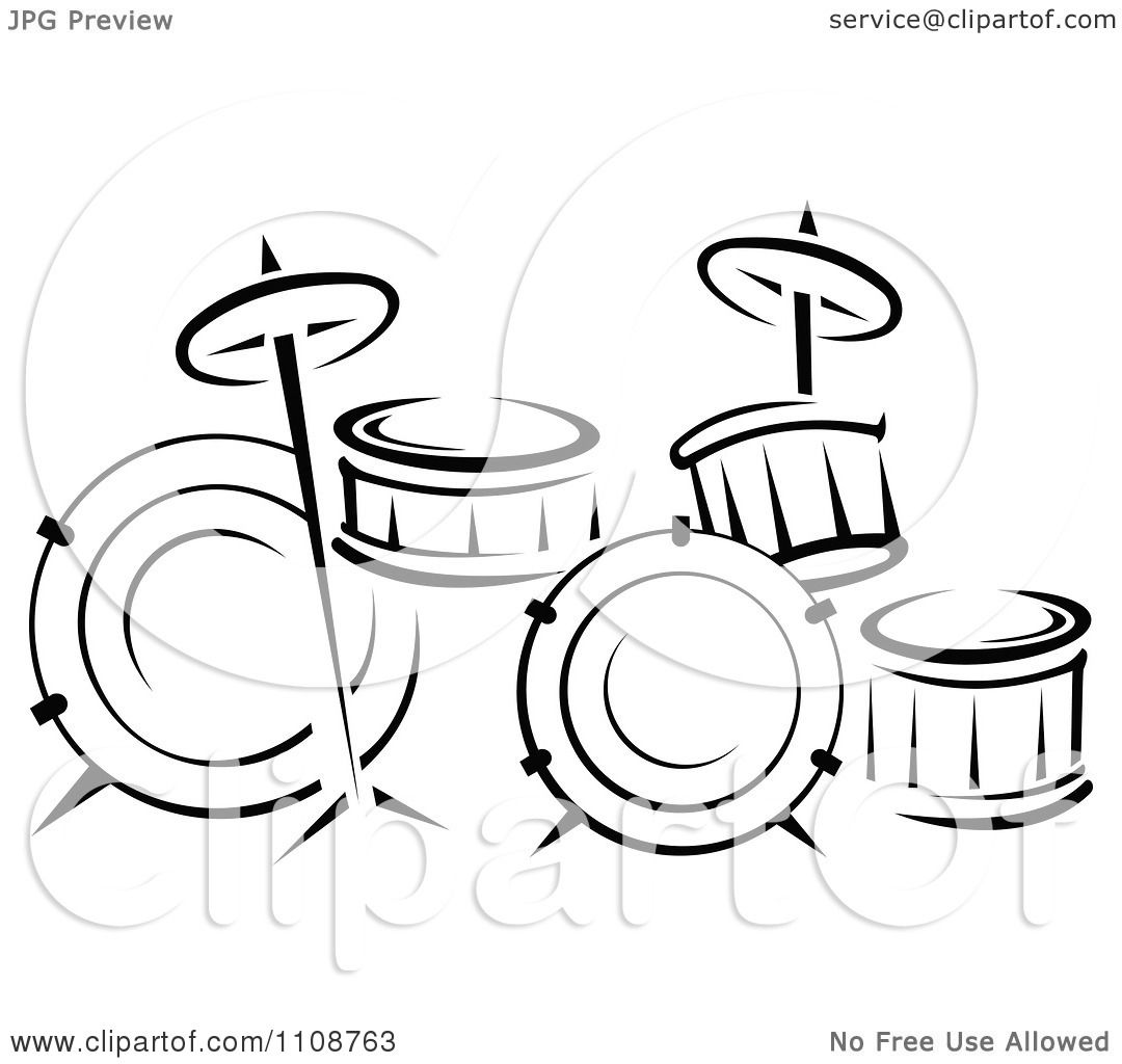 music instruments clipart black and white - photo #46