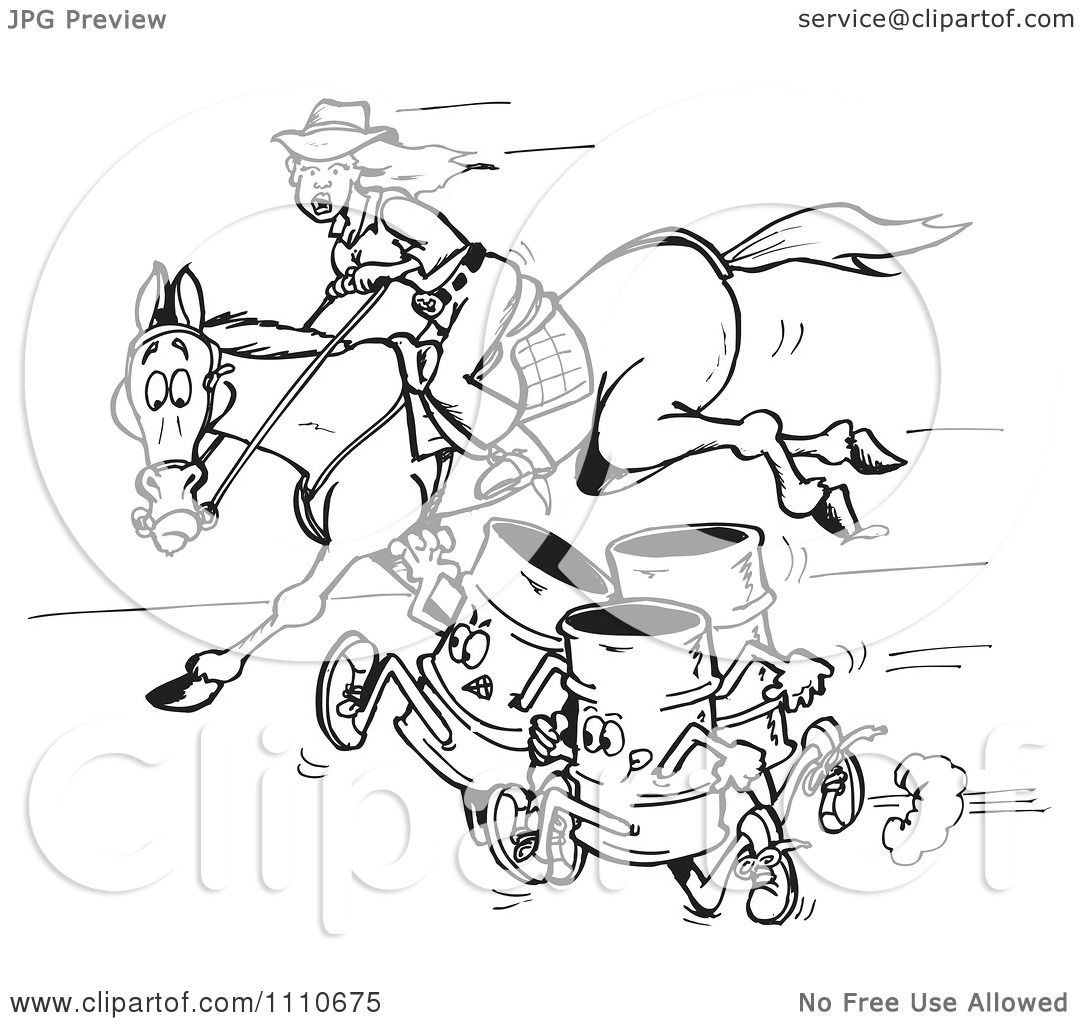 Barrel racing horse coloring pages for Barrel of monkeys coloring page
