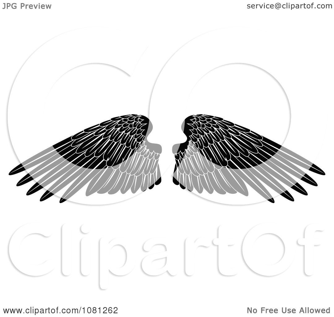 Clipart Black And White  Eagle Wings Spread Clipart Black And White