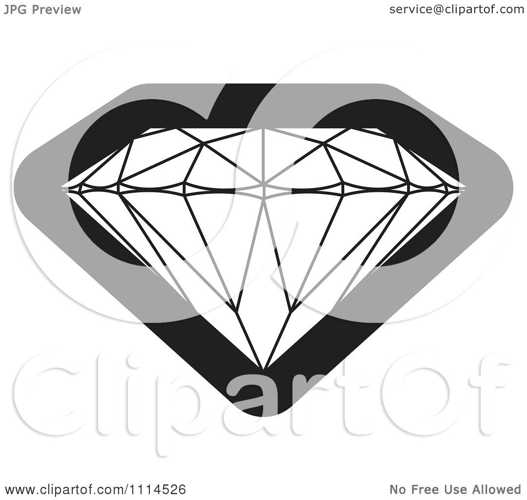 Clipart Black And White Gemstone Royalty Free Vector