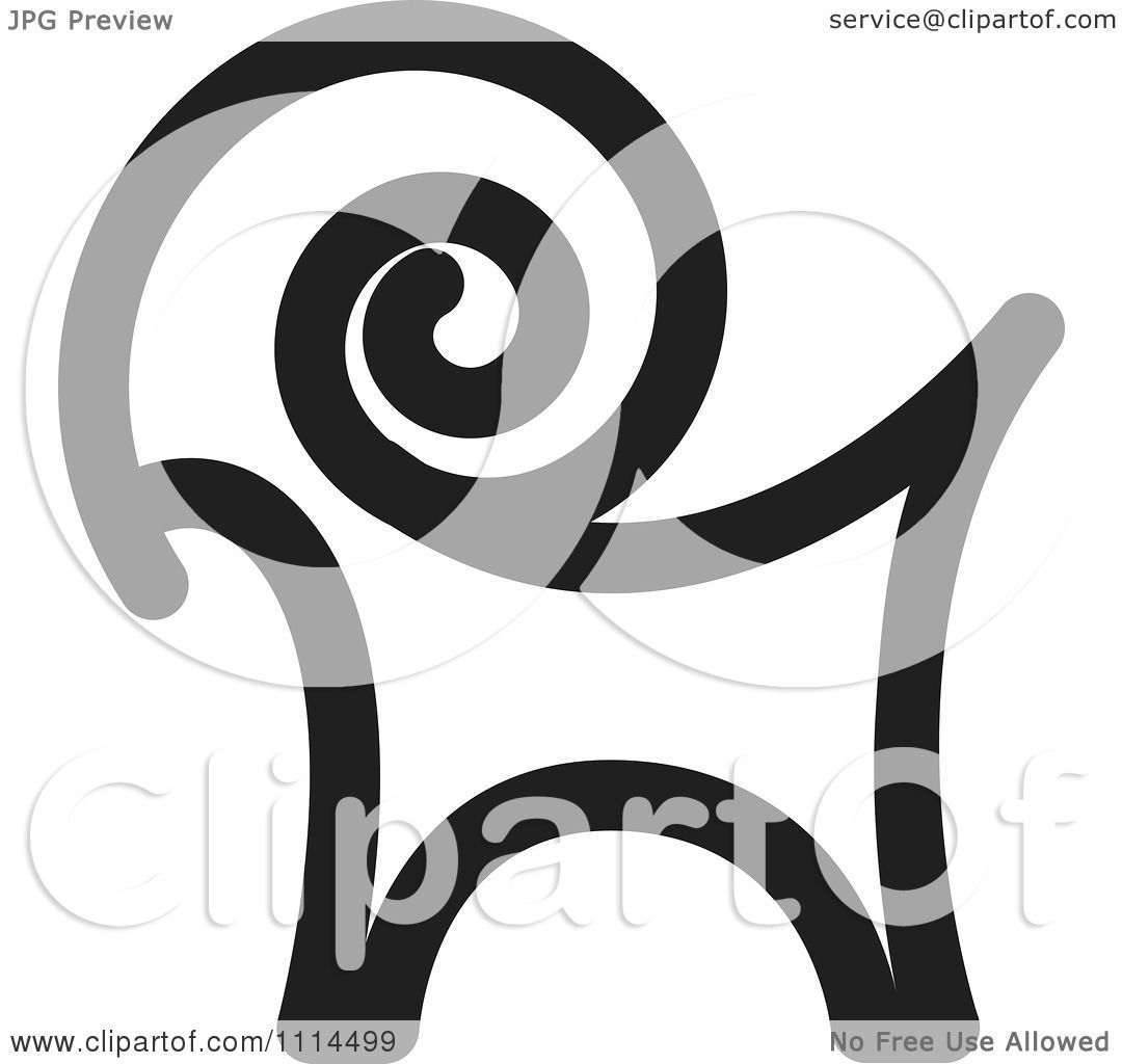 Clipart black and white goat icon royalty free vector - Clipart illustration ...